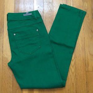 Kelly green straight leg jeans